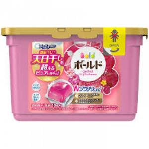 Hộp viên giặt xả Gel Ball 18 viên màu hồng- Nhật Bản ( Hương hoa)