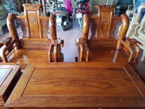 Bộ tần thủy hoàng tay 12 gỗ hương vân