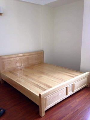 Giường 1m80x20 gỗ sồi nga