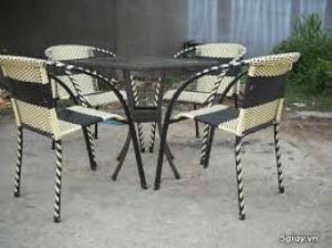 Bàn ghế mây nhựa, bàn ghế cafe, bàn ghế nhà...