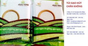 Túi gạo 1kg hút chân không dành cho gạo sạch