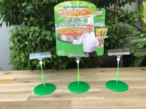 Wobbler để bàn đế nhựa Knorr, wobbler quảng cáo