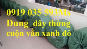 Dây thừng PP dây thừng vằn xanh đỏ dây thừng tết xoắn tròn, dây bô dây thừng đay mềm giá tốt