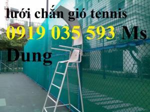 Lưới che sân tennis cung cấp lưới bao quanh sân tennis lưới chắn bóng tennis bay ra ngoài lưới pe pp