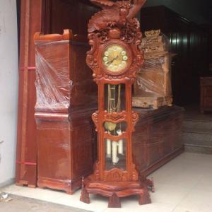 Cây đồng hồ đại bàng 1m80x60 gỗ hương vân Đồ Gỗ Mạnh Tráng giao hàng miễn phí trong nội thành Hà Nội