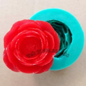 Khuôn rau câu Silicon 4D Hoa Hồng Trà Nhật – Mã số 10 - 4