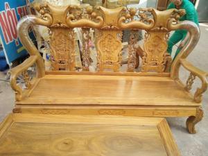 Bộ bàn ghế minh đào gỗ lim tay 10