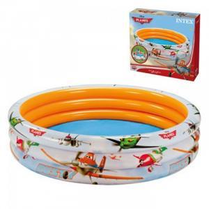 Bể bơi 3 tầng có hoa văn hình máy bay đường kính 1m68, cao 40cm, độ dày thành bể 0.23 mm, đáy bể 0.18 mm.