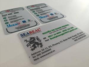 In name card PVC giá rẻ - in kỹ thuật số