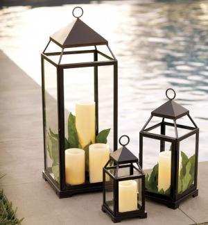Bộ ba đèn trang trí nến sân vườn cực yêu