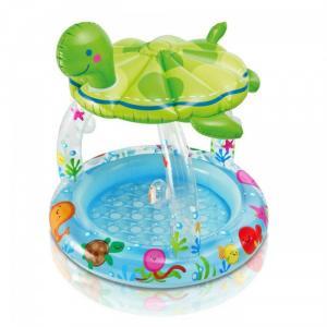 Bể bơi phao mái che đại dương hình con rùa  với chất liệu bền đẹp, màu sắc không bị phai khi sử dụng