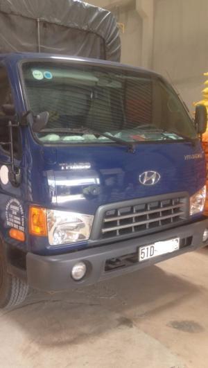 Xe tải cũ hyundai 6t5 thùng bạt màu xanh