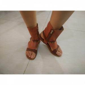 Giày Sandals Nữ 100% Leather (Light Brown)