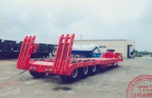 Sơ mi rơ moóc tải (chở xe, máy chuyên dùng)chở xe,máy công trình,sàn 8m,pooc lùn 16m(DOOSUNG DS-LBKS-330HDL-1)giá 600000000.