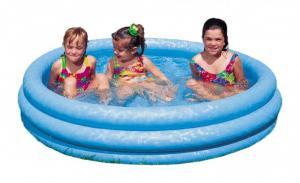 Bể bơi phao xanh thủy tinh, có vân ánh đẹp có đường kính 1m47, cao 33cm