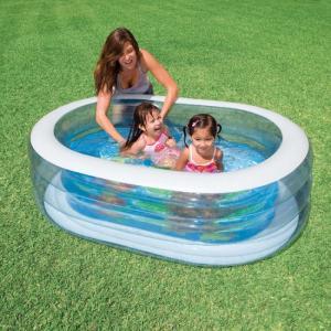 Bể bơi phao có van xả khí thuận tiện cho việc hút xả khí, bể dùng cho bé tắm, vầy nước trong mùa hè.