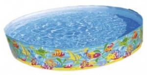 Bể bơi lắp dựng gia đình  đại dương có hoa văn đẹp như giống đại dương thu nhỏ. Sau khi dựng có đường kính 1m52 cao 25cm