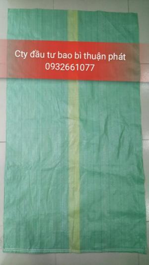 Bao PP dệt giá rẻ, bao PP giá rẻ, bao PP dệt màu, bao đựng cám, bao PP xanh lá