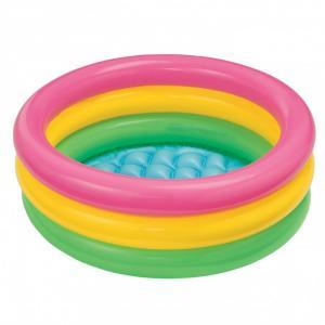 Bể cầu vồng 61cm dùng để tắm và cho bé chơi các trò chơi nước dưới nước.