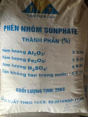 Phèn Nhôm_Al2(SO4)3 phèn Tân tiến -50kg/bao