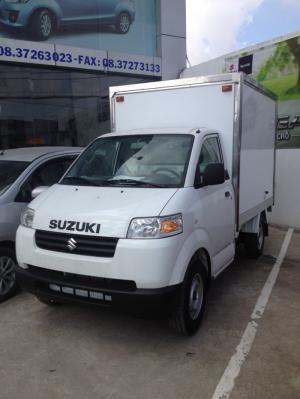 Bán xe Suzuki Pro thùng kín dài, mui bạt dài lên  đến 2.370m mẫu ĐỘC QUYỀN giá không đổi 312tr
