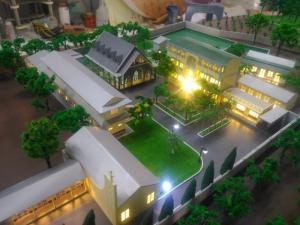 Mô hình kiến trúc nhà thờ Phú Hiệp