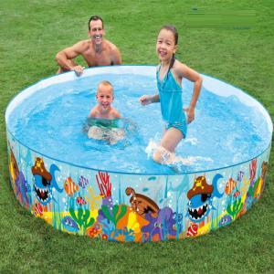 Bể bơi phao 2m44 lắp dựng hình cá intex - 56453