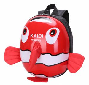 Balo Cho Bé từ 3 đến 7 tuổi Hình Cá Kaidi 3D để đi học, đi chơi