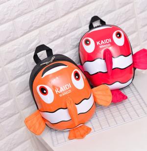 Balo Cho Bé từ 3 đến 7 tuổi Hình Cá Kaidi 3D để đi học, đi chơi - MSN1831001