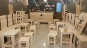 Chuyên sản xuất bàn ghế gỗ cafe cóc giá rẻ nhất