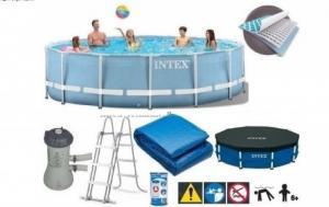 Bể khung kim loại tròn 4m57*84 kèm máy lọc nước INTEX 28728