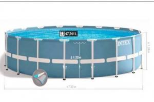 Bể bơi khung kim loại chịu lực tròn 7m32 INTEX - 28762