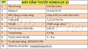 Máy đầm thước Honda GX 35