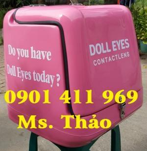 Thùng chở hàng sau xe máy, thùng giao hàng giữ nhiệt, thùng tiếp thị hàng nhanh