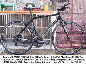 Xe đap Touring BIANCHI ROMA lll Sport ITALY nhiều mẫu