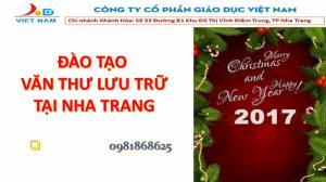 Đào tạo văn thư lưu trữ tại Nha Trang, phú...