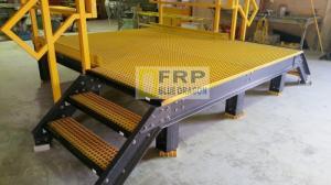 Mua bán tấm sàn frp composite kháng hóa chất, lan can tay vịn handrail frp chống sét 100%