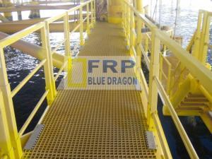 Nhà cung cấp lan can cầu thang frp không bị sét frp, thanh đỡ U, I, V, thang cáp điện, máng cáp điện frp