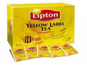Trà túi lọc lipton thái lan hộp vàng 100 túi
