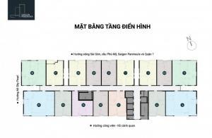 mặt bằng căn hộ, có 16 căn/sàn