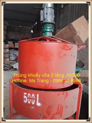 thùng khuấy vữa 2 tầng jw500
