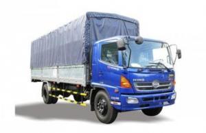 xe tải hino 9 tấn thùng mui phủ bạt