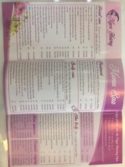 Spa Ngọc Hương có đầy đủ các gói dịch vụ chăm sóc tôn vinh sắc đẹp của Khách hàng. Gói thấp nhất là 150.000đ Giảm 45% cho các liệu trình được áp dụng trong tháng 7 /2017