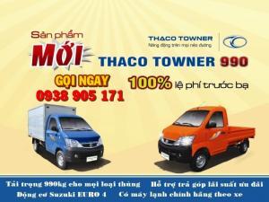 Tặng 100% phí trước bạ xe Towner990/ Giá xe tải nhỏ máy xăng 990kg/ Xe tải nhẹ 1 tấn giá tốt