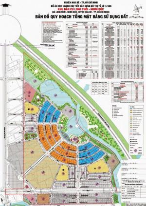 Bản đồ quy hoạch tổng mặt bằng sử dụng đất khu dân cư The Star Village