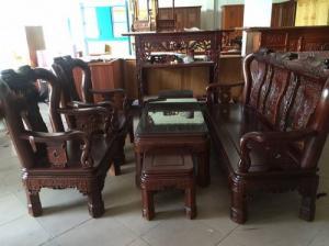 Bộ bàn ghế triện gỗ gụ