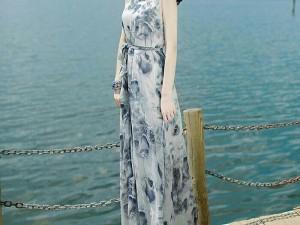 Đầm Maxi Hoa Lanny Cao Cấp