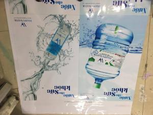 In poster sản phẩm nước tinh khiết