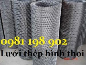 Lưới thép dập giãn, lưới thép hình thoi 1,5mm 2mm, 3mm ô 15x50, 10x20, 30x60