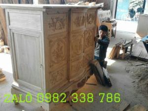 Tủ thờ gỗ gụ CÁNH mở Hai hồi dài 197 cao 1m 27